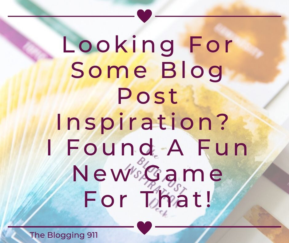 Looking For Some Blog Post Inspiration? I Found A Fun New Game For That!