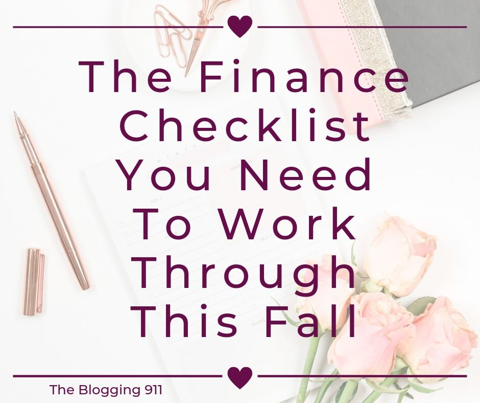 The Finance Checklist You Need To Work Through This Fall