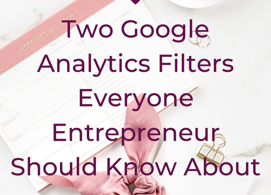 Two Google Analytics Filters Everyone Entrepreneur Should Know About