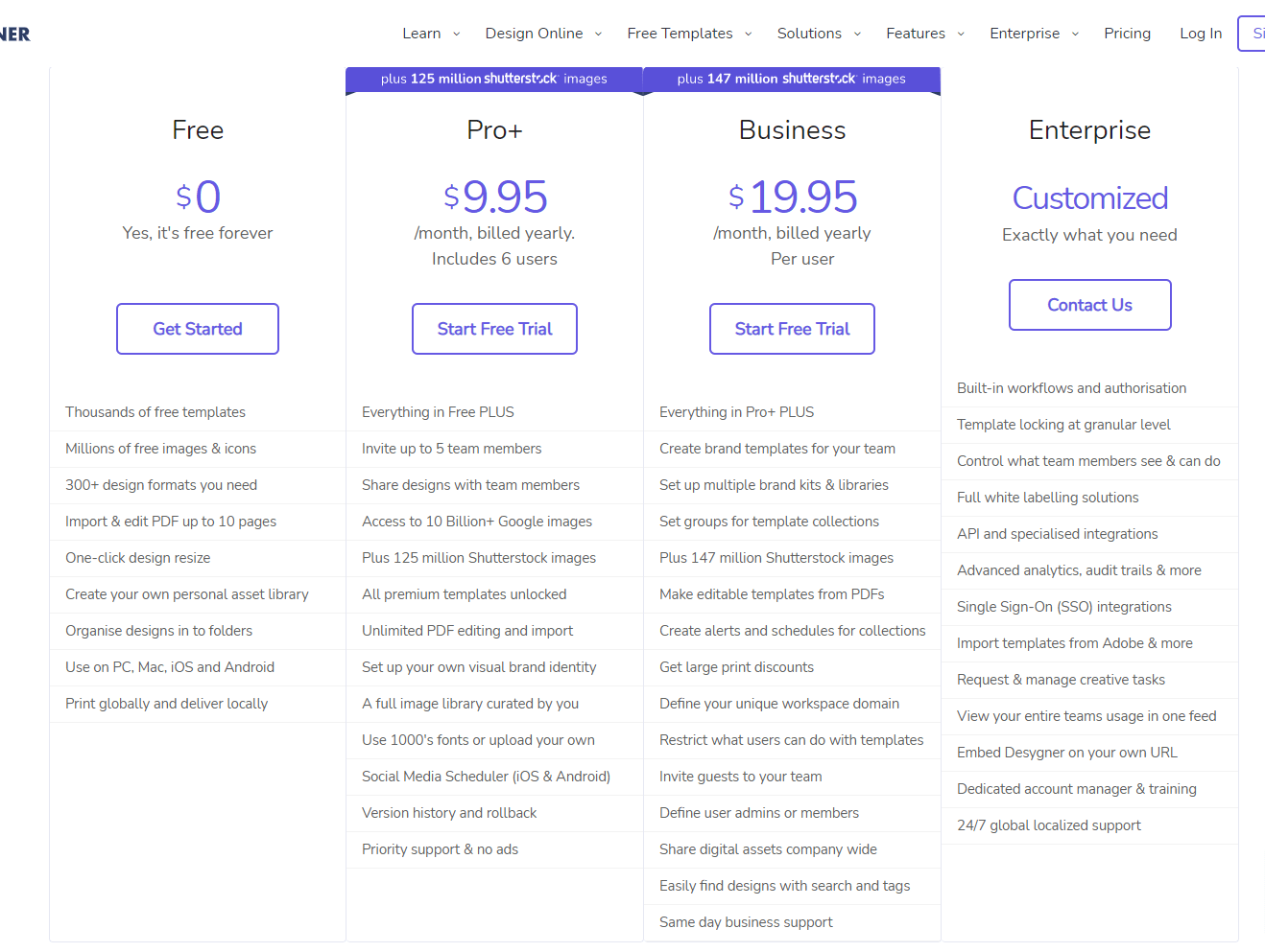 Desynger pricing and features